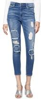 Sanctuary Women's Robbie Rip & Repair Skinny Ankle Jeans