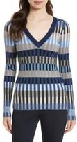 Diane von Furstenberg Women's Stripe Rib Knit Sweater