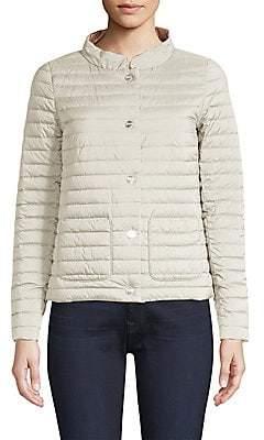 Herno Women's Matte & Shiny Basic Reversible Jacket