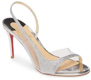 Christian Louboutin Optisling Clear & Glitter Slingback Sandal