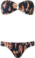 BRIGITTE printed bandeau bikini set - women - Elastodiene/Polyamide - PP