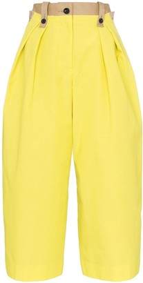 Sacai Contrast Panel Cropped Trousers