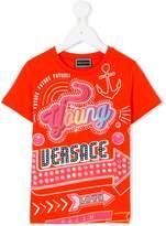 Versace neon sign motif T-shirt