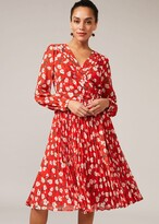 Thumbnail for your product : Phase Eight Lou-Poppy Floral Ditsy Pleated Dress