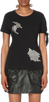 J.W.Anderson Stud-embellished cotton-jersey t-shirt