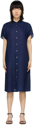 Blue Blue Japan Indigo Dyed Linen Dress