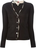 Burberry 'Haymarket Check' detail cardigan - women - Wool - S