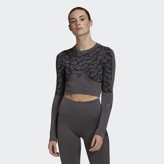 adidas by Stella McCartney TRUEPURPOSE Seamless Crop Long Sleeve Top