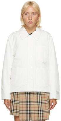 Burberry White Devizes Jacket