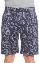 Vintage 1946 Batik Print Reversible Shorts