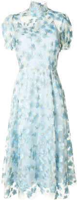 macgraw Porcelain floral embroidered dress