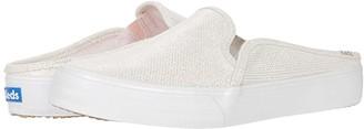 Keds Oh Joy! Double Decker Mule (White Foil Leather) Women's Shoes