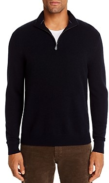 The Men's Store at Bloomingdale's Cashmere Half-Zip Sweater - 100% Exclusive