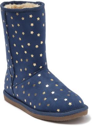 Harper Canyon Novelty Star Print Faux Fur Boot