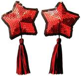 C-YOUNG Women's Sexy Nipple Cover Sequin Tassels Star Exotic Pasties Lingerie