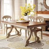Pier 1 Imports Build Your Own Marchella Linen Gray Extension Dining Table Collection