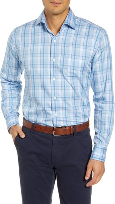 Peter Millar Avery Regular Fit Plaid Cotton & Silk Button-Up Shirt