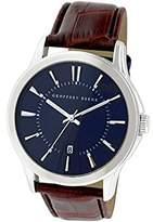 Geoffrey Beene Men's GB8048SLBL Analog Display Japanese Quartz Silver Watch