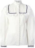 Gucci pleat and frill yoke blouse