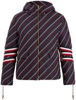 Moncler Gamme Bleu Strap-detail embroidered down coat