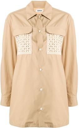 Coohem crochet pocket shirt