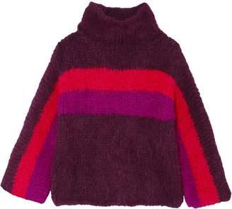 Rosie Assoulin Striped Alpaca-blend Sweater