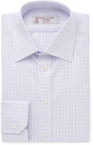 Turnbull & Asser - Purple Slim-fit Checked Cotton-twill Shirt