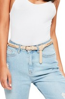 Missguided Women's Woven Faux Leather & Chain Belt