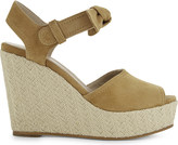 Claudie Pierlot Azya goatskin suede wedge sandals