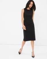 White House Black Market Asymmetrical Black Peplum Sheath Dress