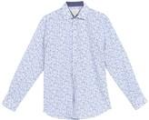Construct Paisley Print Long Sleeve 4-Way Stretch Slim Fit Shirt