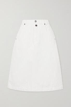 Frame Mosaic Denim Skirt