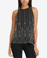 Lauren Ralph Lauren Beaded Georgette Tank Top