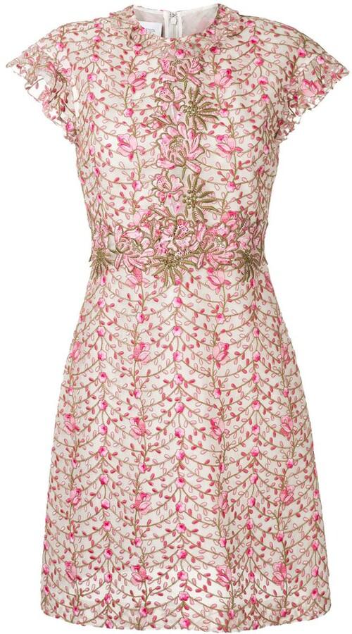 Giambattista Valli floral embroidery dress