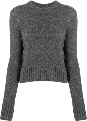 Ami Crew Neck Knitted Jumper