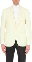 Canali Single-breasted wool and mohair-blend jacket