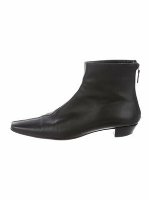 Gucci Leather Boots Black