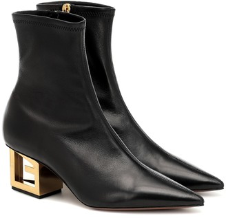 Givenchy G Heel leather ankle boots