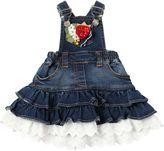 MonnaLisa Denim Effect Cotton Overall Dress