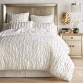 Pier 1 Imports Satin Pintuck Ivory Duvet Cover & Sham
