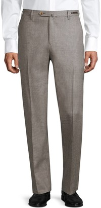 Pt01 Easy-Fit Flat-Front Geometric Trousers