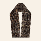 Maje Leopard print quilted scarf