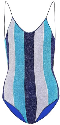 Oseree Exclusive to Mytheresa Lumiere striped one-piece swimsuit