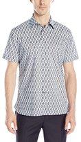Perry Ellis Men's Two Color Diamond Dot Print Shirt