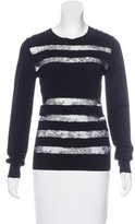 Jason Wu Lace-Trimmed Wool Sweater