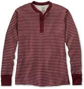 L.L. Bean Two-Layer River Driver's Shirt, Traditional Fit Henley Stripe