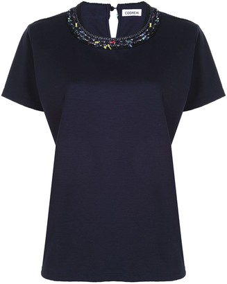 Coohem contrasting detail collar T-shirt