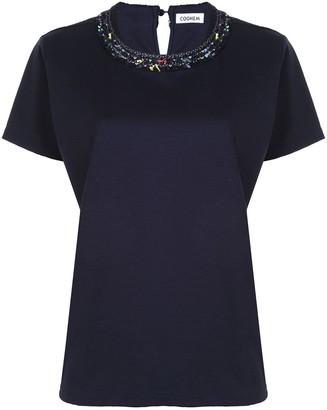 Coohem contrasting detail collar T-shirt