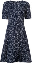 Oscar de la Renta floral print dress - women - Cotton/Spandex/Elastane - 10
