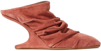 Rick Owens Gathered Suede Mules